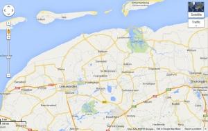 Route Groningen nach Harlingen