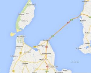 Route Harlingen nach callansoog