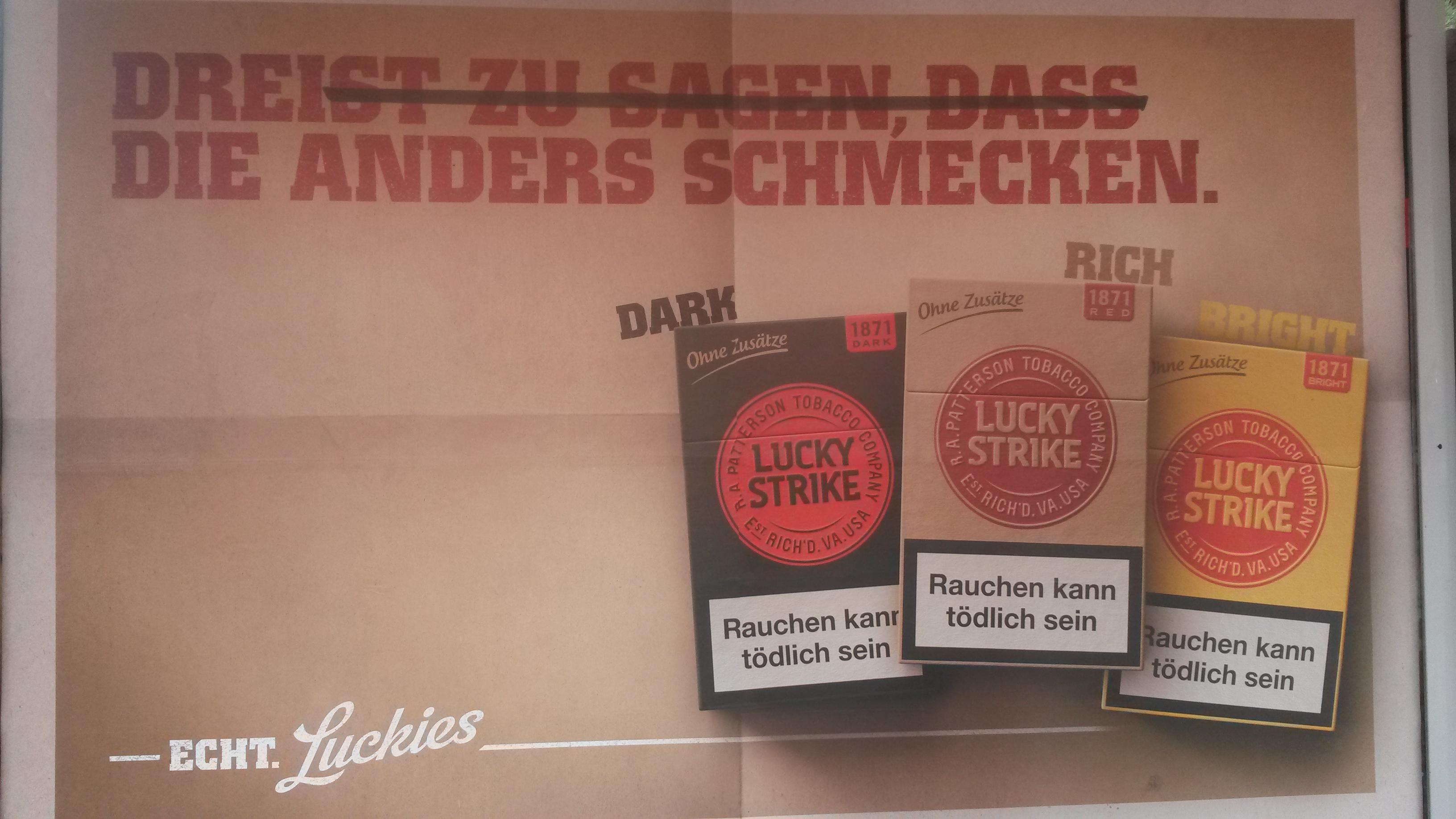 Lucky Strike   Be informed